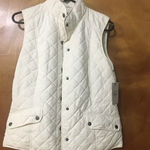GH Bass Jackets & Coats - White Quilted Vest